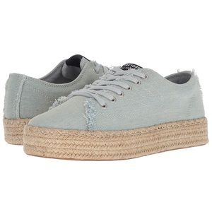 Tretorn Eve Light Blue Denim Espadrille Sneaker